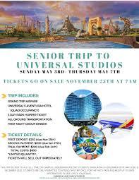 snhu 2020 senior trip to universal