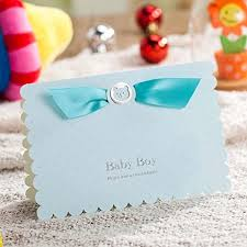 invitation cards lovely blue