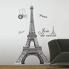 Amazon Com New 56 Eiffel Tower Giant Wall Decals Mural France Paris Stickers Room Decor Everything Else