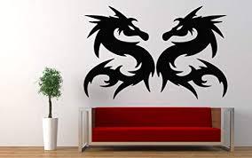 Amazon Com Dragon Flame Animal China Fire Wall Decor Wall Decal Car Sticker Window Sticker Vinyl Sticker Handmade 4605 Handmade