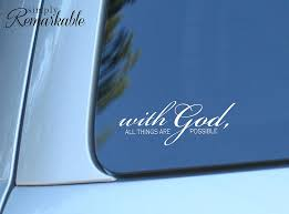 Amazon Com Simply Remarkable With God All Things Are Possible Laptop Art Religious Christian Decal For Car Computer Or Wall Wall Decor Usa Made Removable Vinyl Stickers And Gifts 8 X 3