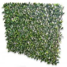 Expanding Fence With Artificial Green Laurel Leaves Leaf Trellis To Screen Areas Of Your Garden Trellis Panels Artificial Hedges Flower Vase Arrangements