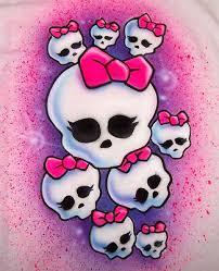 airbrushed monster high dancing skulls