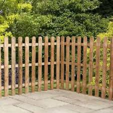 3ft 4ft 6ft Picket Wooden Fence Panels Garden Palisade Fencing Round Top 3x6 4x6 Ebay
