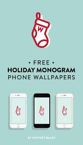 free monogram phone wallpaper e7736p3