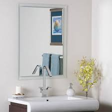 etched border frameless mirror