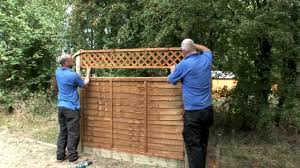 How To Install A Fence Youtube