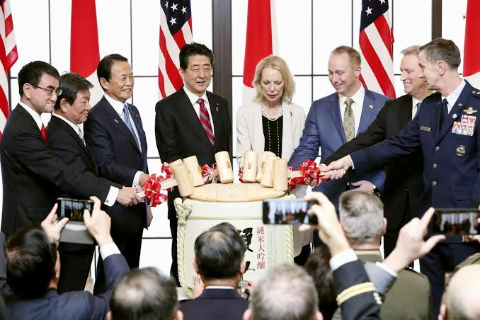 Image result for Trump marks US-Japan security pact with call for stronger, deeper alliance""
