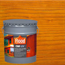Flood 5 Gal Honey Gold Transparent Cwf Uv Penetrating Exterior Wood Stain Fld527 05 The Home Depot
