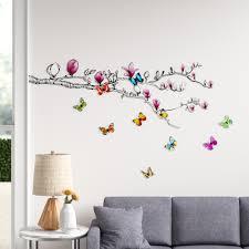 Ebern Designs Keown Huge Magnolia 3d Colourful Butterfly Wall Decal Reviews Wayfair
