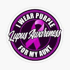Lupus Awareness Month I Wear Purple For My Mom Sticker By Bullish Bear Redbubble