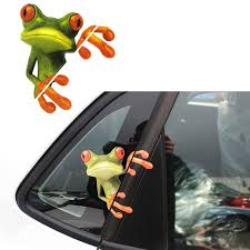 3d Peep Frog Funny Car Stickers Truck Window Decal Graphics Sticker Tanga