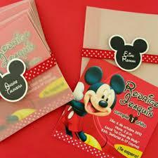 Mickey Mouse 12 Tarjetas De Invitacion Personalizadas Bsf 420