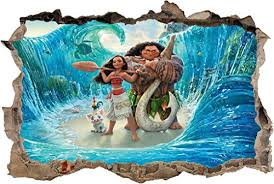 Moana Smashed Wall Decal Graphic Wall St Buy Online In Jersey At Desertcart