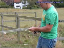 Electric Fence Spring Gate Youtube