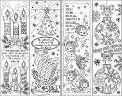 Set Van 8 Kerst Kleurplaten Bladwijzers Met Bijbel Verzen Etsy