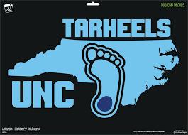 Unc Tarheels Map Heel Design College Football Vinyl Decal Car Window Sticker New Diamonddecalz Football Vinyl Decal Window Stickers Car Window Stickers