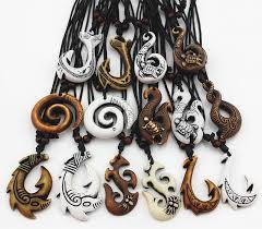 jewelry imitation bone carved maori