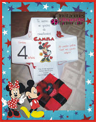 Invitacion Infantil Minnie Mouse Rojo De Cajita De Invitaciones Y