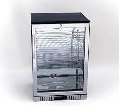 glass door back bar beverage cooler
