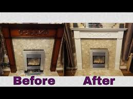 paint a wooden fireplace surround