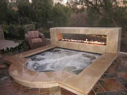 hot tub fire feature