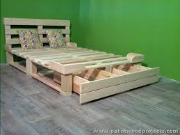 pallet bed with storage plans pallet