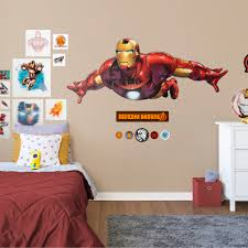 Fathead Iron Man Flying Avengers Assemble Life Size Officially Licensed Marvel Removable Wall Decal Walmart Com Walmart Com
