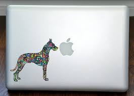 Psychedelic Great Dane Color Macbook Vinyl Sticker Decal Mac Etsy