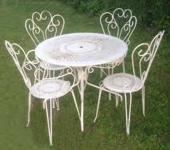a4379 vintage french garden chairs and