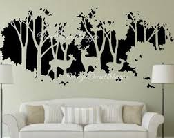 Fawn Wall Decal Etsy