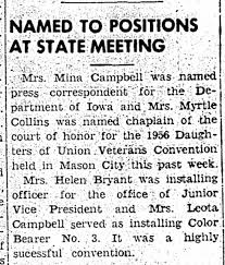 Myrtle Collins named chaplain of court of honor for Dau. of Union Veterans  Convention. 14 Jun 1955 - Newspapers.com
