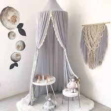 Chiffon Lace Detail Bed Canopy Net 3 Colors Tychome