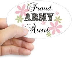 Amazon Com Cafepress Army Aunt Fl Camo Oval Bumper Sticker Euro Oval Car Decal Home Kitchen