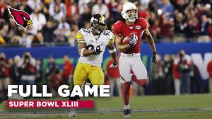 Full NFL Game: Super Bowl XLIII - Cardinals vs. Steelers