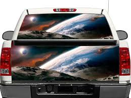 Product Outer Space Moon Earth Tranquility Rear Window Or Tailgate Decal Sticker Pick Up Truck Suv Car