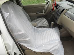 clear disposable plastic car seat cover