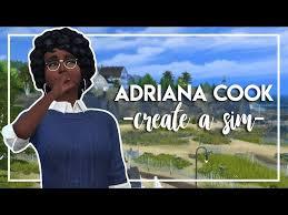 ADRIANA COOK   The Sims 4: Create a sim - YouTube