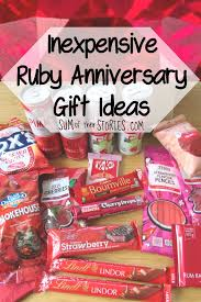 ruby wedding anniversary gift ideas