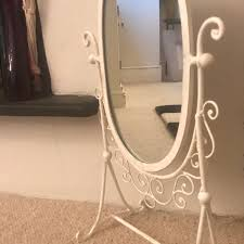white french antique standing mirror