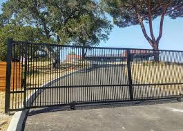 Driveway Gate Kit Wrought Iron Double Pickets Etsy