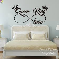 King And Queen Love Infinity Crown Wall Sticker Bedroom Sofa Family Lover Wife Husband Wall Decal Living Room Vinyl Home Decor Wall Stickers Aliexpress