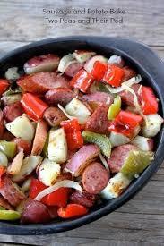 easy sausage and potato bake recipe