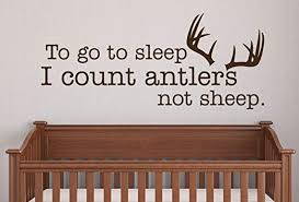 Amazon Com To Go To Sleep I Count Antlers Not Sheep Wall Decal Quote Kids Room Decor Art 30 W X 13 H Home Kitchen