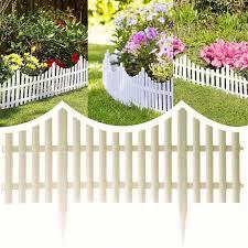 Garden Patio Garden Edging Products 50cm X 20cm Picket Fence Fencing Set Of 9 Wooden Garden Lawn Edging Panels Mtmstudioclub Com