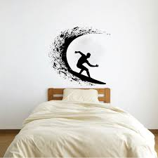 Rosecliff Heights Traditional Surfer Surfing Wall Decal Wayfair