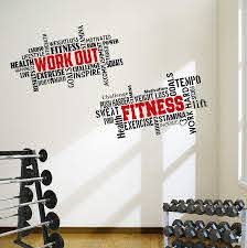 Amazon Com 2 Large Pro Workout Fitness Motivational Wall Decals Gym Quotes Excellent Value Kitchen Dining