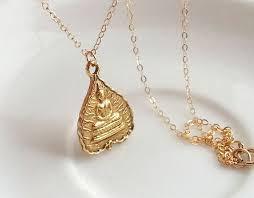 buddha lotus leaf necklace gold buddha