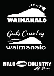 Waimanalo Decal Set Nalu Blue Hawaiian Decals