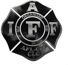Amazon Com The 4 Reflective Black Steel Iaff Union 3m Vinyl Firefighter American Made Window Decal Everything Else